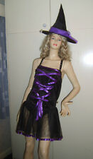 Donna Sexy Gotico BALERINA Witch Fairy Costume 10-12 USATO