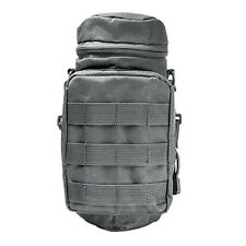 NcSTAR VISM Tactical Water Bottle Carrier w/ Shoulder Strap & MOLLE Pouch Gray