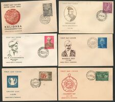 FDCYP - 034. INDIA 1960. Complete Year Pack with 6 First Day Covers.