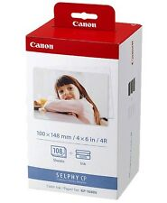 Canon KP-108IN Selphy Color Ink 4x6 Paper Set 3115B001 for SELPHY CP910 CP9