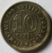1961H Malaya 10cents   coin  very nice!