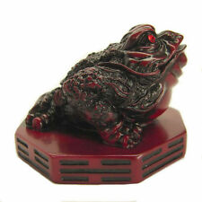 Feng Shui Rose Wood Color Money Frog Statue