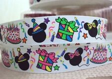 """BTY 7/8"""" Minnie Mouse Birthday Party Grosgrain Ribbon Hair Bows Lanyards Lisa"""