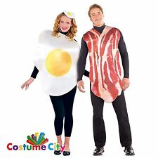 Adults Couples Breakfast Buddies Bacon & Egg Fancy Dress Halloween Costume