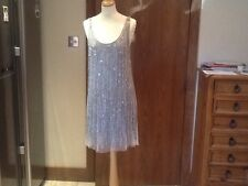 Stunning Kate Moss Top shop limited edition beaded cocktail Dress size 14