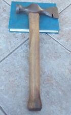 "SUPERB VINTAGE 2 1/2LB BRADES 1741 CAST STEEL AXE HAMMER 16"" LONG"