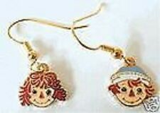 Raggedy Ann Jewelry and Andy Dangle Earrings Cloisonne Ear Rings Anne