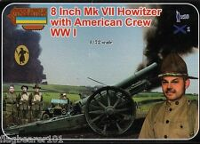 STRELETS A002 WW1 8 INCH AMERICAN Mk VII HOWITZER with American Crew. 1/72 SCALE