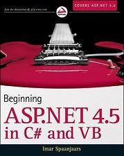 Beginning ASP.NET 4.5: in C# and VB, Spaanjaars, Imar, Good Book