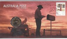 2009 Australia Post PNC, $1 Uncirculated Coin, 200 years of Postal Service