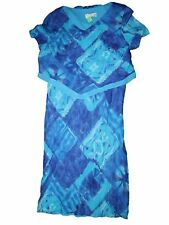 NEW Women Donna Ricco Light Dark Blue Long Dress Size 18W Plus