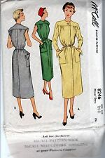 McCall #8246 Womens Dress Sewing Pattern Sizes 12 14 16-1950 Vintage Belted Old