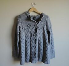 Women's New BCBGMaxAzria Grey Thick Cardigan Sweater Jacket Coat Size Small NWT