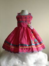 Baby Girl Dress Pink 12-18 Months Sleeveless Wedding Rococo Embroidered Birthday