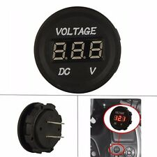 DC 12V-24V LED Digital Voltage Meter Gauge Round Panel Voltmeter Jeep Marine Car
