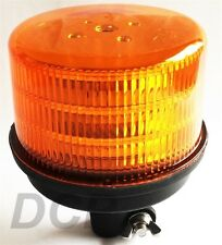 ROTATING AMBER LED WARNING LAMP BEACON DIN POLE ECE REG 65 REG 10