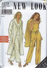 New Look Pattern 6979 Hooded Duster, Sleeveless Top, and Pants Sizes 10-22