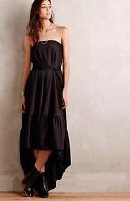 NEW $428 Anthropologie Eukleid Tube Maxi Dress Black Gown Size 36 Hoss INTROPIA
