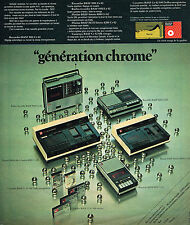 PUBLICITE ADVERTISING 114  1974  BASF  cassettes  CR 02 SM DOLBY