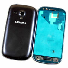 Samsung Galaxy S3 III mini i8190 Fascia Housing Back Door Battery Cover Grey UK