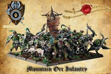 Shieldwolf Miniatures 28mm Mountain Orcs Infantry Set Of 20