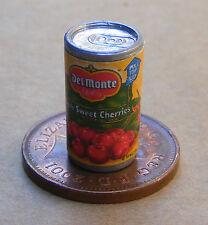 1:12 Empty Tin Of Sweet Dark Cherry Pie Filling Dolls House Miniature Accessory