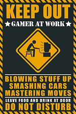 A5 Print – KEEP OUT Gamer at Work (Picture Gaming PS4 XBOX ONE SEGA NINTENDO)