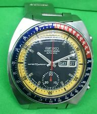 VINTAGE SEIKO CHRONOGRAPH POGUE PEPSI 6139-6002 MENS AUTOMATIC WATCH STAINLESS S