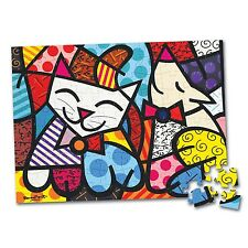 Romero Britto Jigsaw Puzzle 100 pieces CAT & DOG - SEALED -