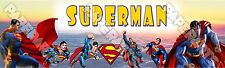 Superman Peronalized Customized Name Poster Banner 8.5x30 - Great Birthday Gift