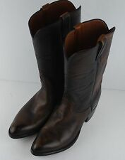 Lucchese Cowboy Boots Patterned Leather Womens Size 7D