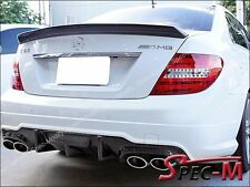 Carbon Fiber Rear Bumper Diffuser V Type For 2012+ C63AMG W204 C204 Facelift