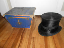 Antique Victorian BEAVER TOP HAT - Imperial Fabrica BAHIA Requiao & Irmao w BOX