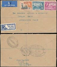 GOLD COAST BEULAH LANE B.O Cape Coast REGISTERED AIRMAIL to GB 1956
