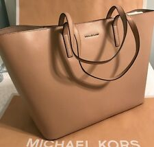 BEAUTY! NWT Michael Kors Emry X-Large Leather Tote, Shoulder Bag $348 Bisque
