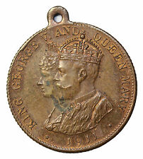 1911 Great Britain King George Queen Mary Coronation Medal By Wylie & Co. London