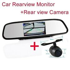 "4.3"" Screen TFT Car LCD Rear View Rearview DVD Mirror Monitor camera for Ford"