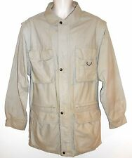 Eddie Bauer S Safari Jacket to Vest Convertible Beige Photo Hiking Journalism