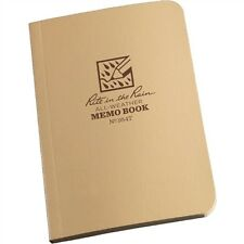 "Rite in the Rain Tactical Desert Tan Field Flex Memo Book No 954T 3.5"" x 5"""