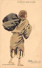 CPA ILLUSTRATEUR ORIENTALISTE R.TUGOT LA BETE DE SOMME DU MAROC CASABLANCA 1909