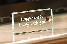 Spaceform Happiness is being With You Romantic Love Gifts Ideas for Her Him 1750