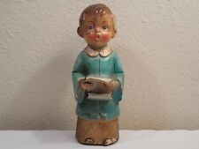 "Vintage Paper Mache Choir Boy Christmas Figurine ~ 7 1/4"" Tall ~ Restore Project"
