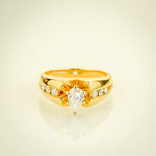 14k Gold Pear shaped Diamond Engagement Ring