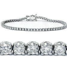 "3mm  7"" .925 Sterling Silver Round Cut Cz Bling Luxury Ladies Bracelet"