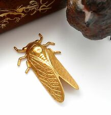 BRASS Cricket Feng Shui CICADA Stamping ~ Bug Finding (FA-6044) `