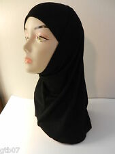 Amira Value Black 2 Piece Plain Hijab Muslim Head Wear Cover Women Scarf Cap