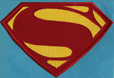 """7.8"""" x 11.7"""" X- Large Embroidered Superman Man of Steel Red & Yellow Chest Patch"""