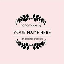 PERSONALIZED  CUSTOM MADE NAME RUBBER STAMPS UNMOUNTED H84