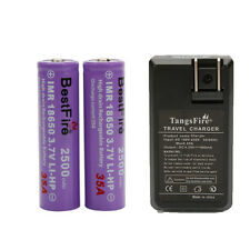 2x Bestfire IMR 18650 3.7V 35A High Drain Rechargeable Battery + US Charger