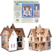 Fairfield DIY Dollhouse Kit Mini-Victorian Wooden Half Inch Scale - Model #8015